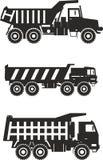 camion della Fuori strada principale Carrelli di miniera pesanti Vettore Fotografia Stock Libera da Diritti