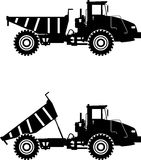 camion della Fuori strada principale Carrelli di miniera pesanti Vettore Immagine Stock