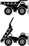 camion della Fuori strada principale Carrelli di miniera pesanti Vettore Fotografie Stock Libere da Diritti