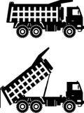 camion della Fuori strada principale Carrelli di miniera pesanti Vettore Immagine Stock Libera da Diritti