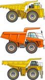 camion della Fuori strada principale Carrelli di miniera pesanti Vettore Immagini Stock Libere da Diritti