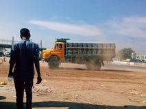 Camion della via Immagine Stock