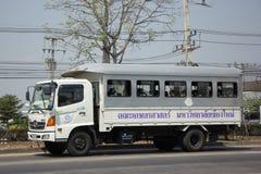 Camion dello scuolabus della scuola della regione settentrionale per i ciechi Fotografie Stock Libere da Diritti