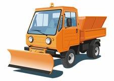 Camion dello spazzaneve Immagine Stock