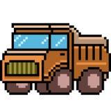 Camion di arte del pixel di vettore Fotografia Stock