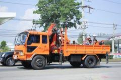Camion di autorità provinciale di eletricity di Thailands immagini stock libere da diritti