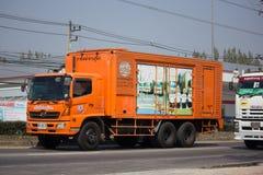 Camion di autorità provinciale di eletricity di Thailands immagine stock
