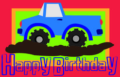Camion di buon compleanno Fotografia Stock