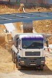 Camion di caricamento dell'escavatore Fotografia Stock Libera da Diritti