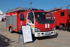 Camion di carro armato del fuoco ISUZU Fotografia Stock