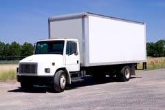 Camion di consegna bianco isolato Fotografia Stock