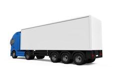 Camion di consegna blu del carico royalty illustrazione gratis