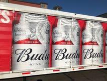 Camion di consegna di Budweiser fotografia stock