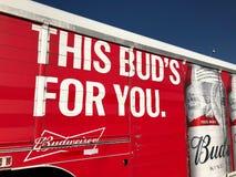 Camion di consegna di Budweiser immagini stock