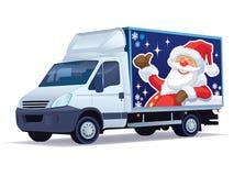 Camion di consegna di natale illustrazione di stock