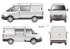 Camion di consegna di vettore piccolo Fotografia Stock Libera da Diritti