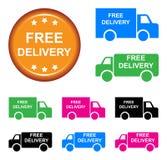 Camion di consegna gratuita illustrazione vettoriale