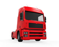 Camion di consegna rosso del carico Fotografie Stock Libere da Diritti