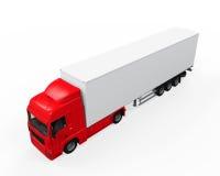 Camion di consegna rosso del carico Immagine Stock Libera da Diritti
