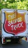 Camion di donazioni dell'esercito della salvezza parcheggiato vicino a William Booth House Fotografia Stock