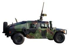 Camion di esercito isolato su bianco Fotografia Stock