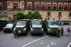 Camion di esercito messicani Fotografia Stock