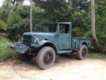Camion di esercito nella giungla Fotografia Stock Libera da Diritti