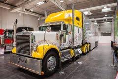Camion di esposizione di Peterbilt Fotografia Stock