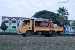 Camion di giardino del dipartimento delle strade principali Fotografie Stock