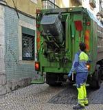 Camion di immondizia Immagini Stock Libere da Diritti