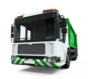 Camion di immondizia isolato Fotografia Stock Libera da Diritti