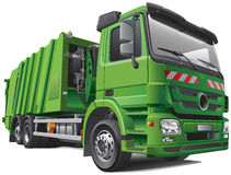 Camion di immondizia moderno Immagine Stock Libera da Diritti