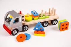 Camion di legno del giocattolo Fotografia Stock