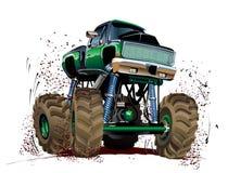Camion di mostro del fumetto Immagine Stock