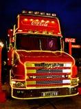 Camion di Natale della coca-cola Immagini Stock