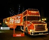Camion di Natale della coca-cola Immagine Stock