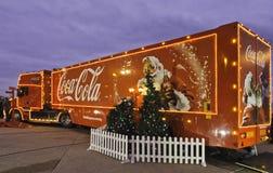 Camion di Natale della coca-cola Fotografia Stock Libera da Diritti
