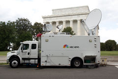 Camion di notizie di NBC Immagini Stock