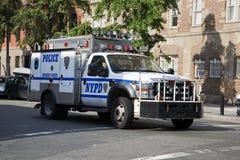 Camion di NYPD Fotografia Stock Libera da Diritti