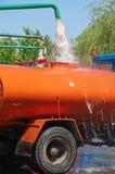 Camion di pulizia Fotografia Stock Libera da Diritti