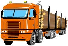 Camion di registrazione isolato su briciolo Fotografia Stock