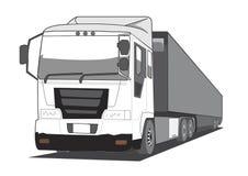 Camion di rimorchio Fotografia Stock