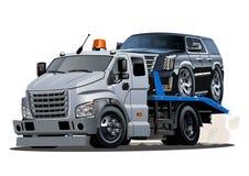 Camion di rimorchio del fumetto isolato su fondo bianco royalty illustrazione gratis