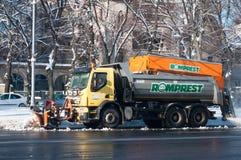 Camion di rimozione di neve Immagini Stock Libere da Diritti