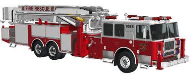 Camion di salvataggio del fuoco Immagini Stock Libere da Diritti