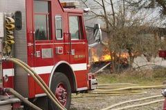 camion di scena del fuoco Immagine Stock Libera da Diritti