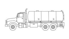Camion di serbatoio Immagini Stock