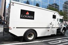 Camion di sicurezza di Loomis fotografia stock