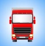 Camion di trasporto sul fondo del cielo Fotografia Stock