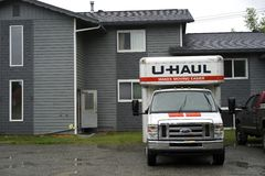 Camion di U-HAUL immagini stock